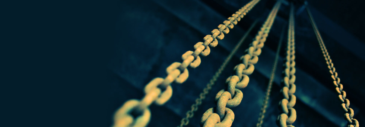 A chain symbolizing Blockchain